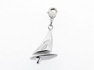 Zilveren bedeltje met thema sport watersport figuurtje