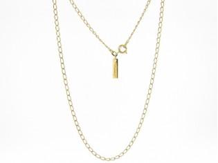Gouden halsketting fragiel dun close for ever kettinkje