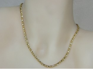 Gouden halsketting fantasie koning schakel ketting