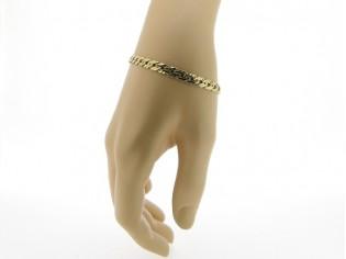 Gouden armbandje met gevlochten schakeltjes