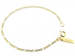 Gouden armbandje met mini figaro schakeltjes
