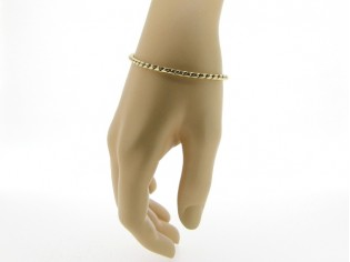 Gouden armbandje met fantasie slangen cocktail schakeltjes