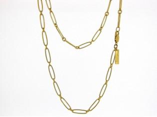 Gouden halsketting close for ever collier met gesloten schakeltjes