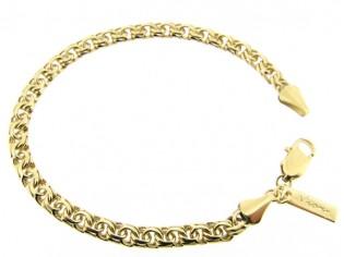 Gouden cocktail armband met gevochten schakels