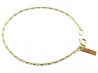 Gouden armbandje met mini fantasie konings schakeltjes