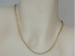 Gouden halsketting mini fantasie konings schakel collier
