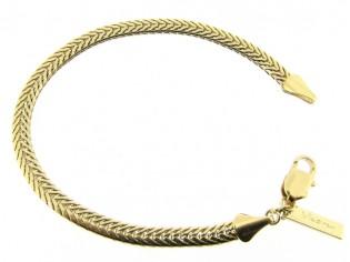 Gouden armband met gevochten slangen cocktail schakeltjes