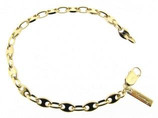 Gouden armbandje met hoogglanzende anker schakeltjes
