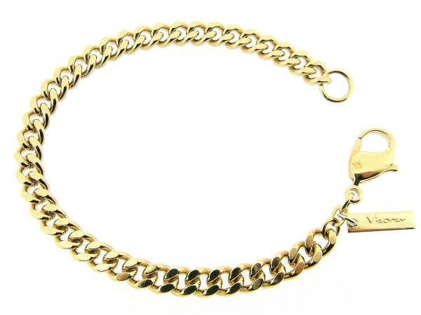 Gouden grote gourmetschakel armband
