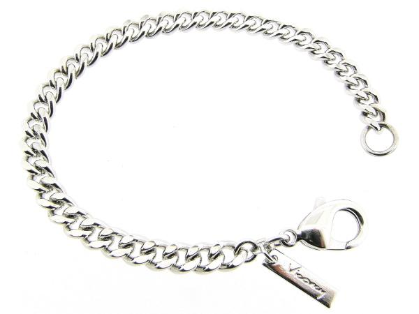 Zilveren armband met grote gourmet schakels