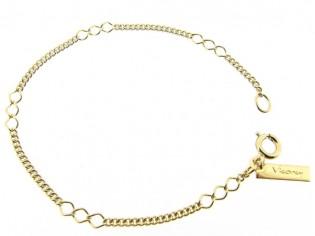 Gouden armbandje met gecombineerde  fantasie gourmet schakeltjes