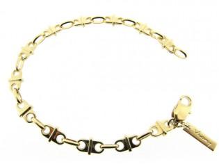 Gouden armbandje met Franse schakeltjes