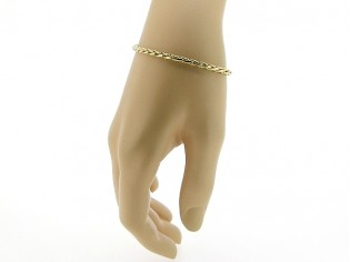 Gouden armbandje met dunne slangen cocktail schakeltjes