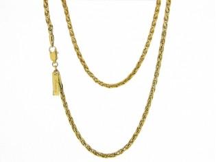 Gouden halsketting dunne slangen cocktail ketting