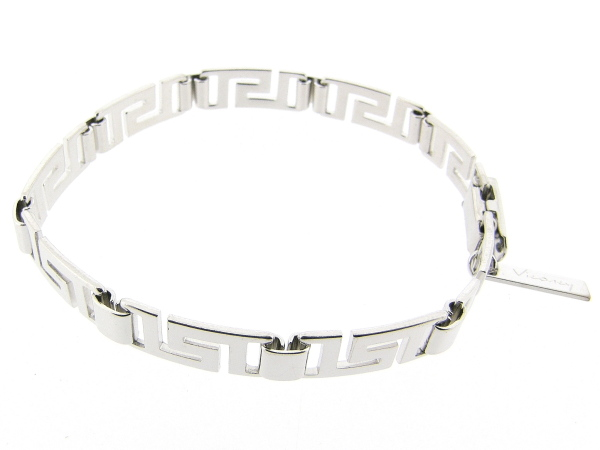 Zilveren armband met Griekse brede schakels