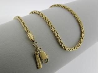 Gouden halsketting cocktail schakel slangen collier