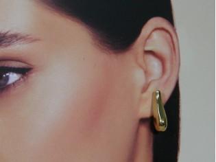 Gouden oorstekertje gouden muiltje