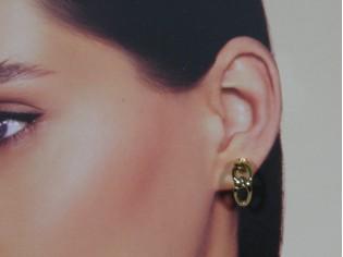 Gouden oorsteker Franse type schakel
