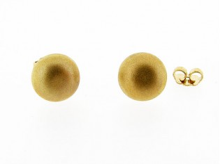 Goud gematteerd rond klein oorknopje