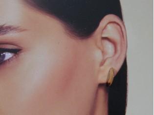 Gouden Gipsy creool oorsteker halve maan