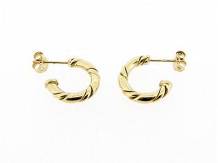 Gouden Franse creool oorsteker, gedraaid type