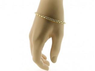Gouden armbandje met cocktail Boston schakeltjes