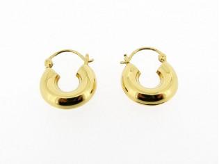 Gouden Gipsy creool oorhanger