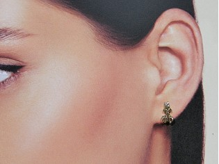 Gouden kinder oorknopjes konijntjes