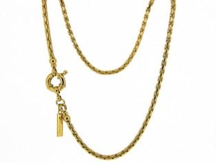 Gouden halsketting cocktail Boston schakel collier met modische sluiting
