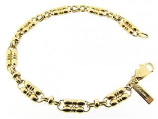 Gouden armband met fantasie dubbele mode schakels