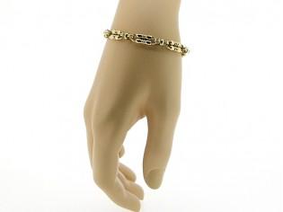 Gouden cocktail armband met dubbele schakels
