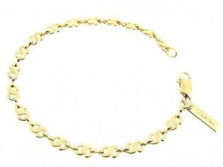 Gouden armbandje met fantasie slangetjes schakels
