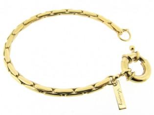 Gouden armband met modieuze Palona cocktail schakels en grote veersluiting