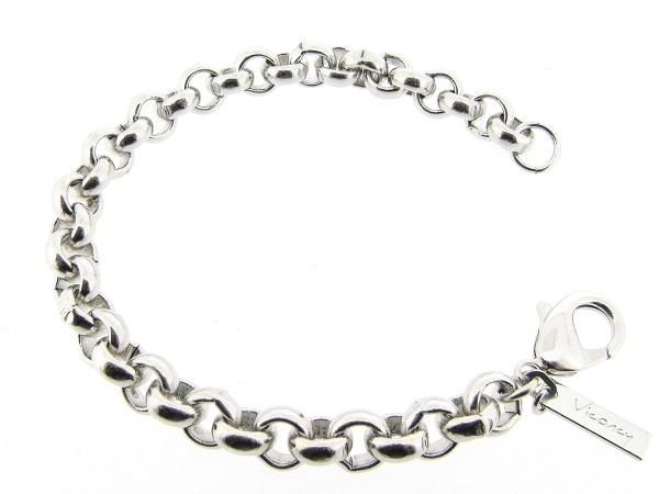 Zilveren armband met grote modieuse Jasseron schakels