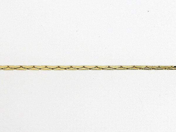 Gouden enkelbandje met mini slangen diamant geslepen kettinkje