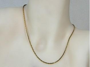 Gouden halsketting mini slangen collier diamant geslepen schakeltjes