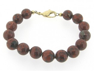Armband met hoogglanzende Jaspis edelstenen