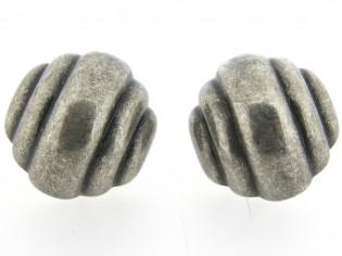 Italiaans fashion oorclip korf in oud zilver uitvoering