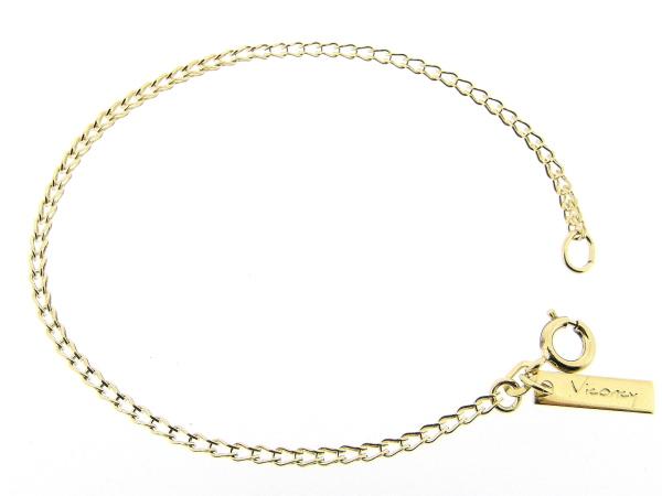 Gouden armbandje met gevlochten mini close for ever schakeltjes