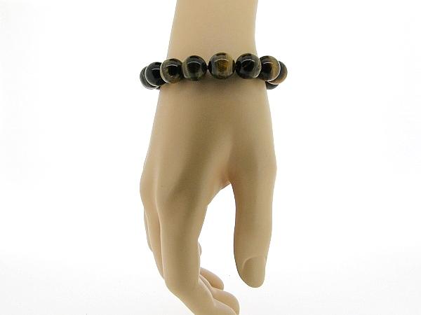 Armband met grote Tijgeroog edelstenen.