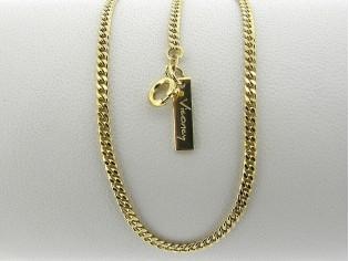 Gouden halsketting smalle gourmet collier gediamanteerd geslepen