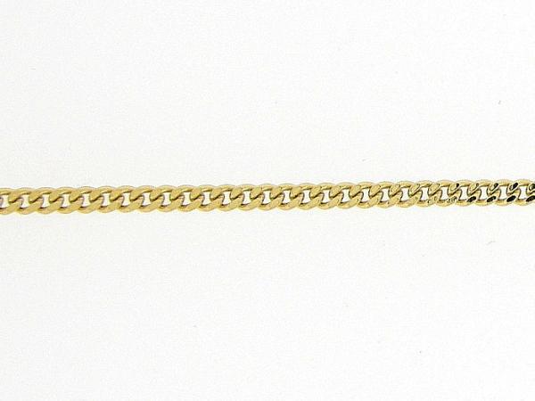 Gouden enkelbandje met smalle gourmet gediamanteerd geslepen kettinkje