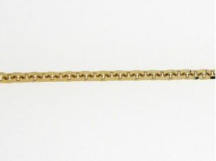 Gouden enkelbandje met diamant vlak geslepen jasseron schakeltjes