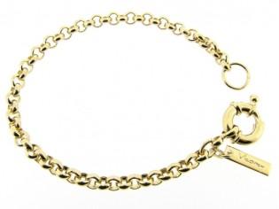 Gouden armband met Jasseron schakeltjes en grote veersluiting
