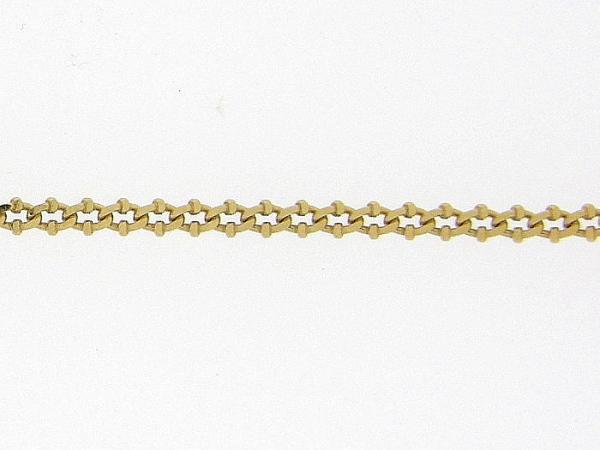 Gouden enkelbandje met gourmet fantasie schakel diamant geslepen