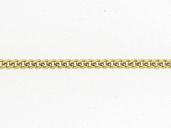 Gouden enkelbandje met gourmet gediamanteerd geslepen ketting