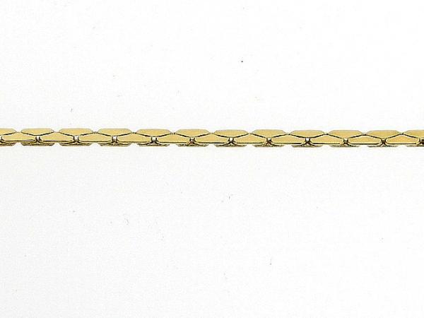 Gouden enkelbandje slangen ketting gediamanteerd geslepen