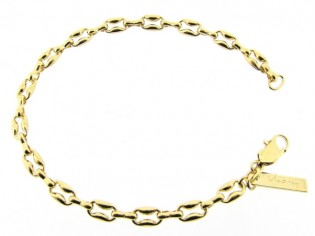 Gouden close for ever schakel armband