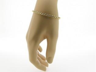 Gouden armband met venetiaanse schakeltjes en grote veersluiting