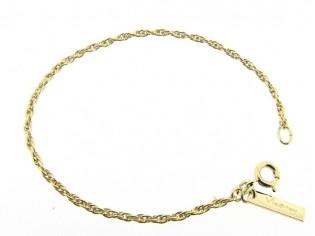 Gouden armbandje met dunne koordschakeltjes